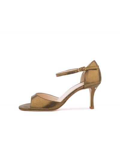 SOPHIE Bronze tejus leather