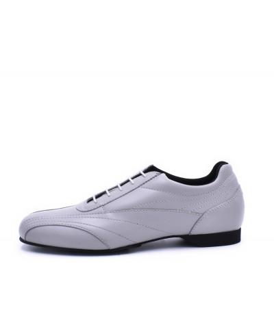 SNEAKER Pearl grey leather