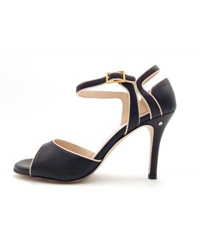JASMINE Black leather -...