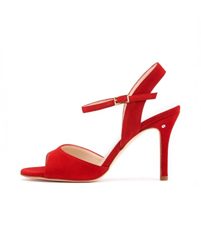 CHANTAL Red suede