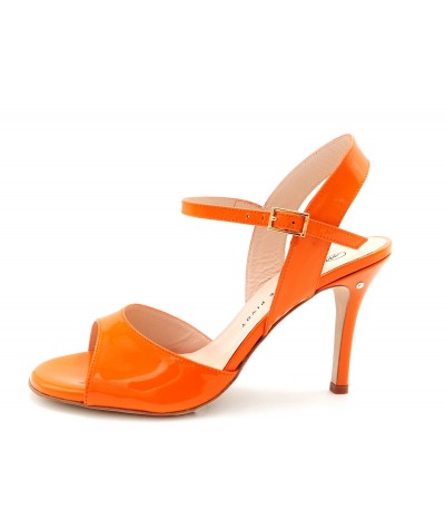 CHANTAL Orange patent leather